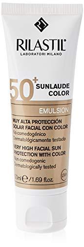 Rilastil Sunlaude - Emulsión Facial con Color y Protección Solar SPF 50+, 50 ml