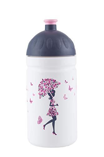 La Gourde écologique sans BPA sans PHTALATES Incassable Durable et Sympa 0,5L (La Fille aux parapluies)