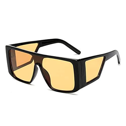 NJJX Gafas De Sol De Gran Tamaño Moda Mujer Hombre Gafas Cuadradas Gafas Sombras Gafas 03