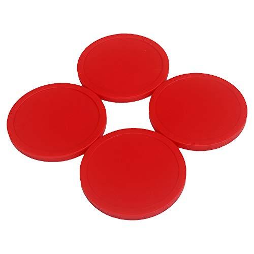 GFEU 4er Pack Air Hockey Puck Red Ersatz für Spieltischzubehör (63mm)