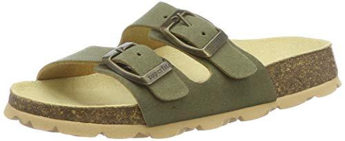 Superfit Jungen FUSSBETTPANTOFFEL Pantoffeln, Grün (Grün 71), 27 EU