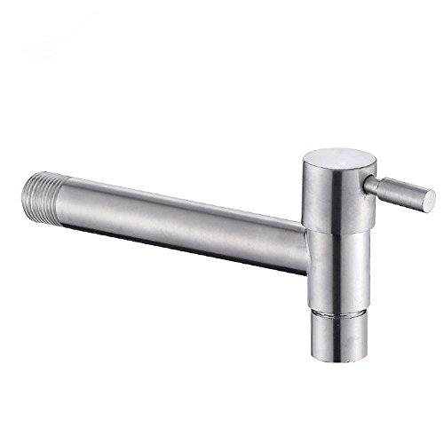 Grifo largo de acero inoxidable montado en la pared de agua fría fregona grifos de piscina lavadora grifos de jardín