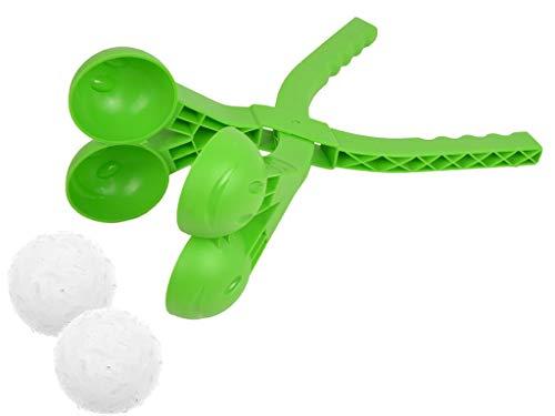 Prosperplast Doppel- Schneeball Maker Schneeballzange (Grün)