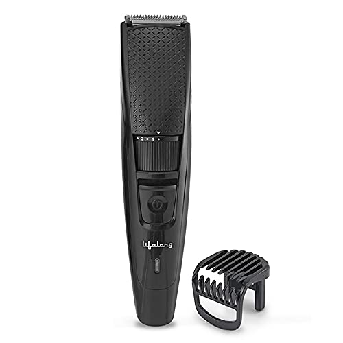 Lifelong Trimmer- 45 Minutes Runtime; 20 Length Settings | Cordless, Rechargeable Trimmer with 1 Year Warranty (LLPCM13, Black)