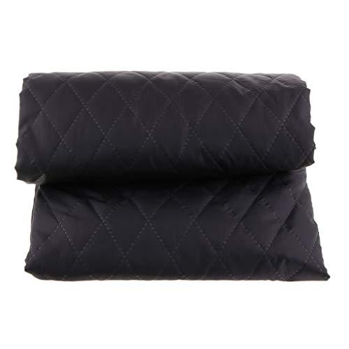 IPOTCH Tela de Algodón Paño de Acolchado Lienzo de Costura 145 x 100 cm - Negro
