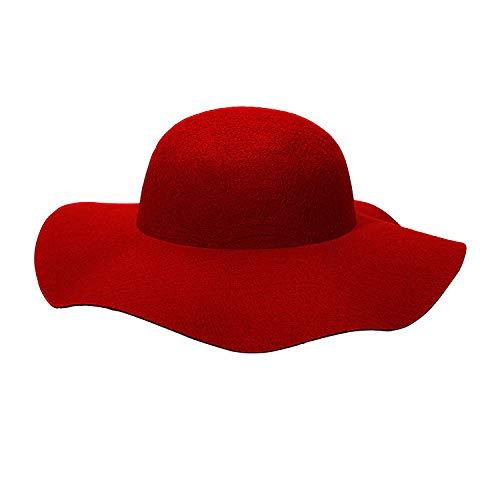 Widmann 68583 - Filz-Hut Floppy, Einheitsgröße für Damen, rot, Hut 60er Jahre, breite Krempe, Kopfbedeckung, Karneval, Mottoparty