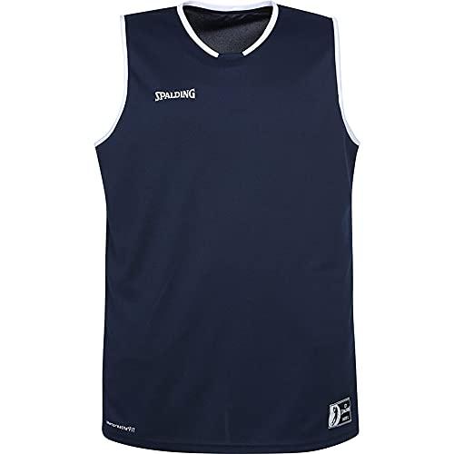 Spalding Move Tank Top Camiseta De Juego para Hombre, Hombre, Azul Marino/Blanco, 152