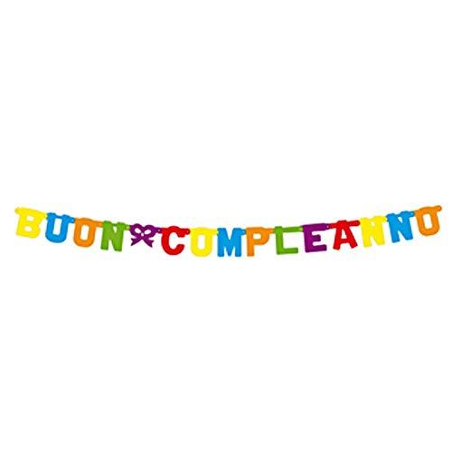 boland guirnalda feliz Cumpleaños estándar 160x 11cm, Multicolor, 529495