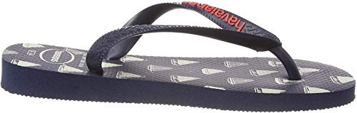 Havaianas Top Nautical, Infradito Uomo, Multicolore (Navy Blue/Navy Blue 4368), 45/46 EU