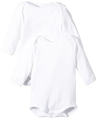 Schiesser AG Schiesser Baby - Jungen Body 2 er Pack 220154-100, Weiß (100-weiss ), 80 (9M)