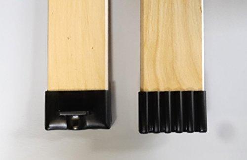 BOSSASHOP.de 10er Paket Kappen zur Befestigung von Leisten im Lattenrost (schwarz, 12x50mm)