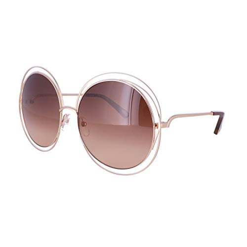 Chloè Damen Ce114Sd 784 62 Sonnenbrille, Braun (Rose Gold/Transparent Bro)