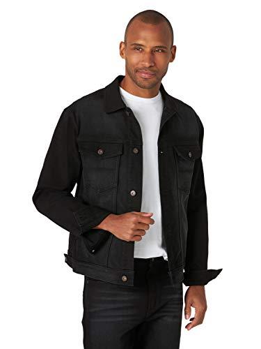 Wrangler Authentics Men's Bonded Fleece Lined Trucker Denim Jacket, Black, Medium