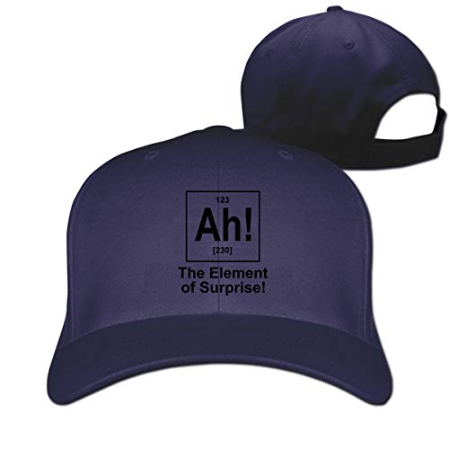 Skilltory Ah! The Element of Surprise Casquette Classic Baseball Cap Adults Unisex Adjustable Original Custom Made Snapback Hat Cotton Navy One Size