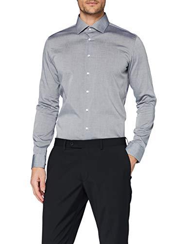 Seidensticker Herren Business Bügelfreies Hemd mit sehr schmalem Schnitt - X-Slim Fit, Grau (Grau 32), 40