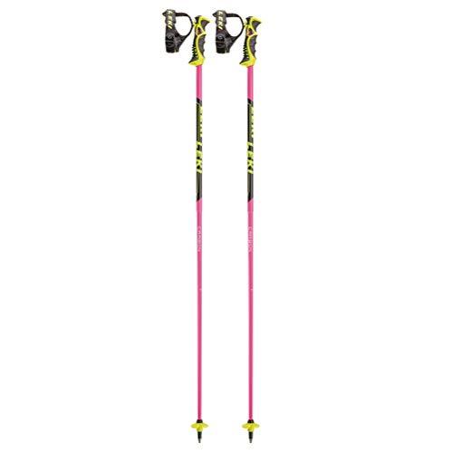 LEKI Bâtons de Ski Unisexe 120 cm Rose, Noir, Blanc, Jaune.