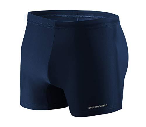 Sesto Senso® Maillot de Bain Homme Boxer Trunks Shorts Pantalon (Tailles de M à 4XL) Slips Natation de Sport BD 313 (M, Bleu)
