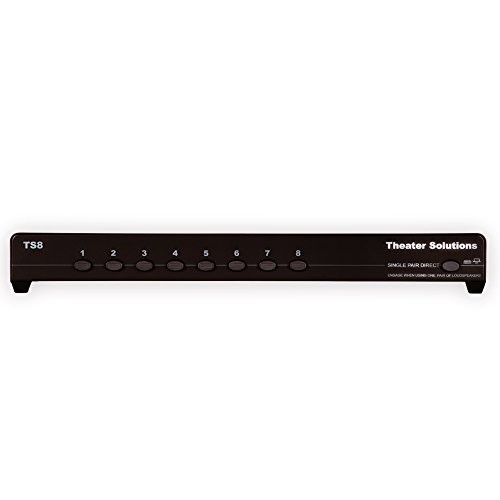 Theater Solutions TS8 Eight Zone Speaker Selector Box with Ohm Protection 8 Pair Speaker Switcher, Black