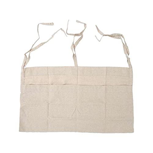 Merssavo Bolsa de almacenamiento para mesita de noche, 1 bolsa de almacenamiento para cama de bebé, ideal para colgar pañales de doble rejilla (color caqui)
