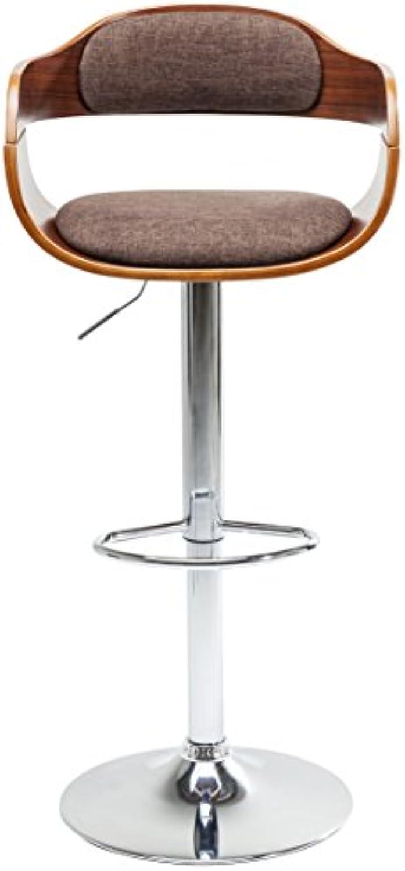 Kare Design Barhocker Monaco Schoko, eleganter Barstuhl in Lederoptik, hhenverstellbarer Polsterstuhl in Retro-Optik, mit Metallfu, Braun (H B T) 106x48x49cm