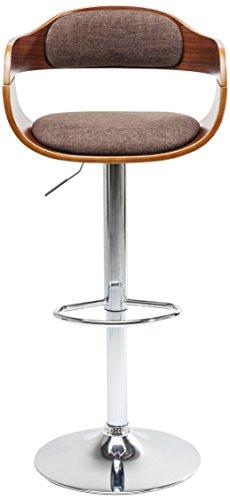 Kare Design barkruk Monaco Choco, elegante barstoel in lederlook, in hoogte verstelbare gestoffeerde stoel in retro-look, met metalen voet, bruin (H/B/D) 106 x 48 x 49 cm