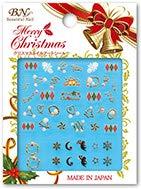 クリスマスネイルアートシール MCM-04 ゴールドサイン