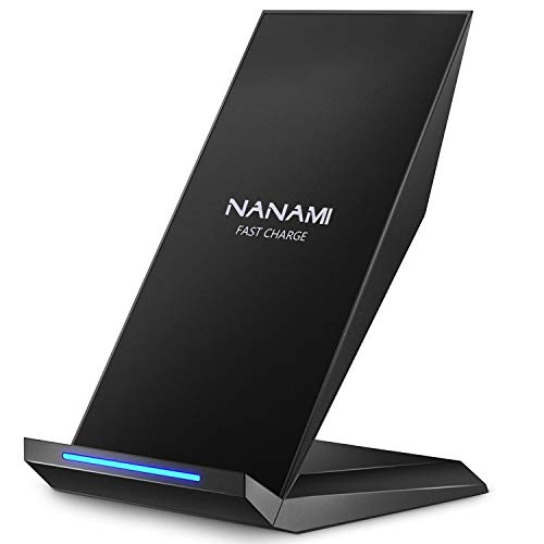 NANAMI Fast Wireless Charger,Induktive Ladestation für iPhone 13 12 pro 12 11 XS Max XR X 8 Plus,kabelloses Ladegerät Qi Charger Handy ladestation Schnell für Samsung Galaxy S21 S20 S10 S9 S8+ Note 20