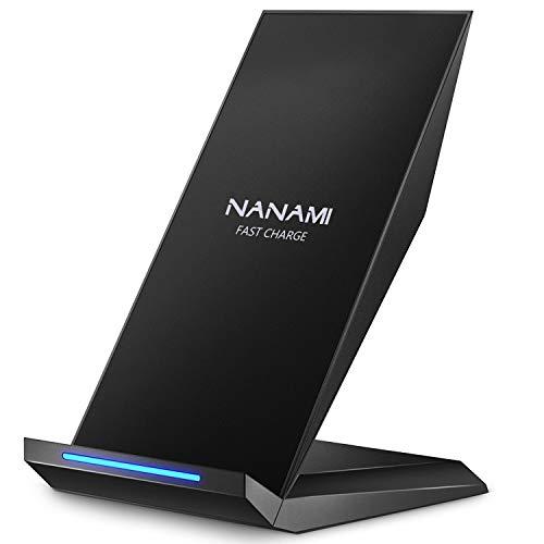 NANAMI Fast Wireless Charger, Qi Ladegerät für iPhone XS/XS Max/XR/ X/ 8/8 Plus, kabelloses Induktive Ladestation Schnellladestation für Samsung Galaxy S9 S9+ S8 S8 Plus S7 S7edge Note 9/8/5 usw. Bild