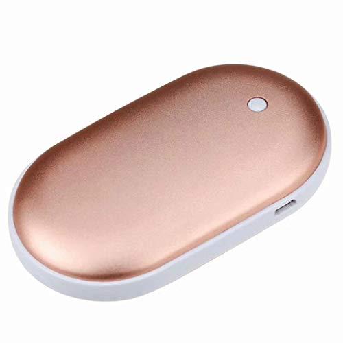 Handwärmer PD Schnelllade, Power Delivery 5200mAh USB Elektrischer Handwärmer Wiederaufladbare Powerbank, 5 Stunden Lang Anhaltende Hitze für Outdoor-Sportarten,Geschenk für Frauen Mann