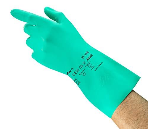 Comasec & souci industriel a136085–01 Gants en nitrile, g26g, liquide chimique et protection, Taille 8,5, vert (Lot de 12)