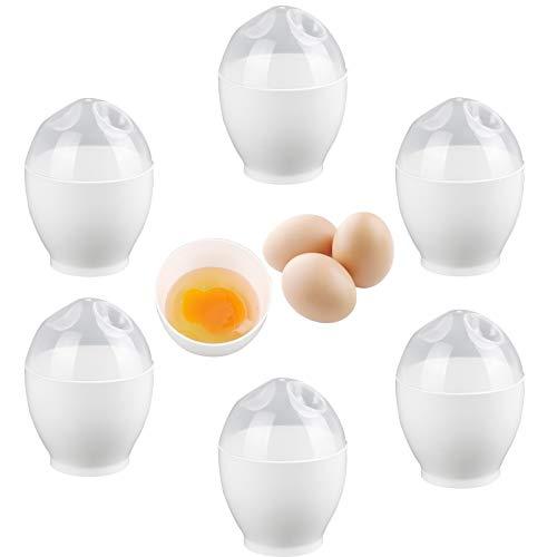 6 Teiliges Set Eierkocher Pochierte Eier Maker Eier Pochierer Egg Poacher Molds Mini Antihaftbeschichtet Einfach und schnell für Pfannen und Mikrowellenherde zum Frühstück Machen Küchenzubehör