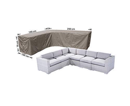 Raffles Covers NW-RHS250190left Weer deksel voor hoekbank 250 x 190 x 100, H: 70 cm Cover voor lounge hoek bank, Lounge sofa cover, Cover voor L-vorm bank