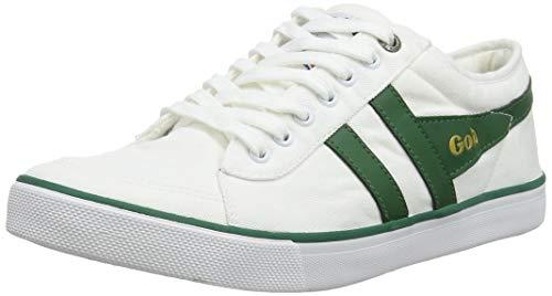 Gola Cma516, Zapatillas para Hombre, Blanco (White/Dark Green WN), 41 EU