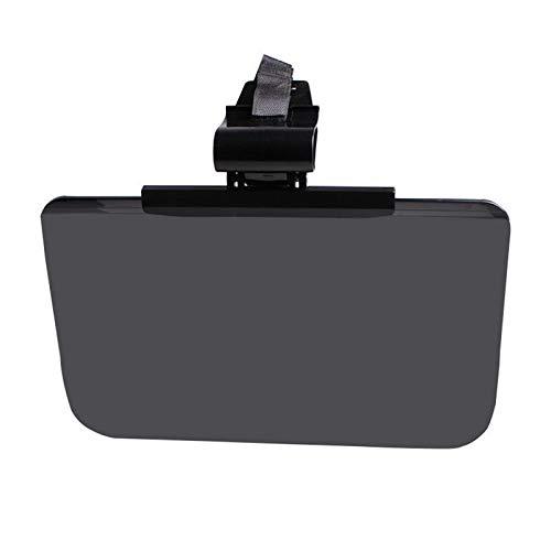 YJDTYM Universal de Visita del Coche Gafas Perspectiva Amplia Visera antideslumbrante Espejo SUV Ocular Alta Transparencia Filtro UV Fuerte luz del Sol (Color : Black)