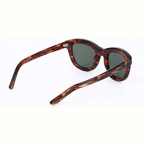 Stella Fella Gafas De Sol con Estilo HD for Mujer UV400 Pretección Marco De Panel De Lente Polarizado CR39 Luz Unisex Marrón (Color : Brown)