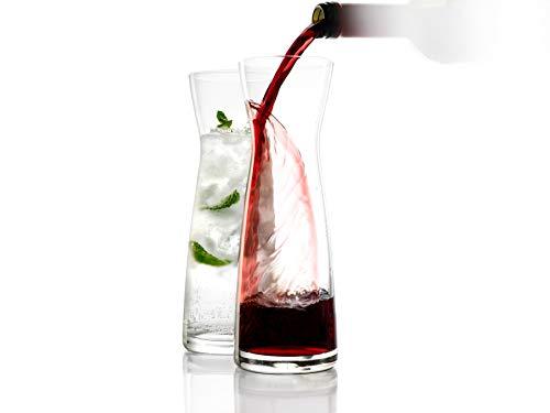 Stölzle Lausitz Karaffen, Serie Universal, Variante L, 500 ml, 2er Set Wasserkaraffe, Saftkaraffe, Weinkaraffe, aus feinem Kristallglas, bruchresistent und spülmaschinenfest