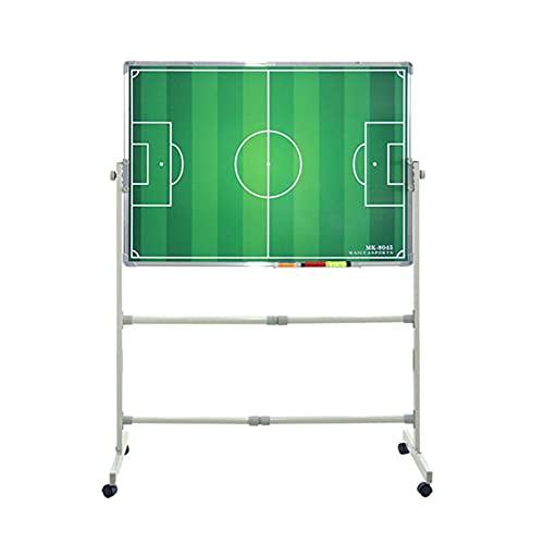 Tablero Táctico de Fútbol Magnético, Tablero de Demostración de La Junta de Enseñanza del Entrenador de Fútbol del Andamio, Fácil de Llevar, Regrabable (Color : UNA)