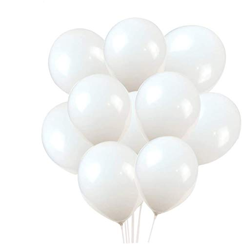 Latex Balloons, 100-Pack, 12-Inch, White Balloons