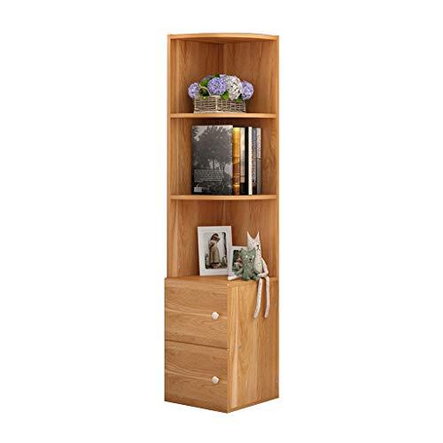 Weq Boekenrek voor aan de vloer tot het plafond, boekenrek, woonkamer, display, staande keukenkast, hoekkast, grote capaciteit, draagbaar
