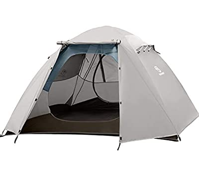 Bessport Camping Tent Lightweight Backpacking 4 Person Tent Waterproof Two Doors Easy Setup Tent for Outdoor, Hiking Mountaineering Travel