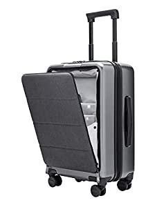 NINETYGO Carry On Hardshell Luggage with Front Pocket