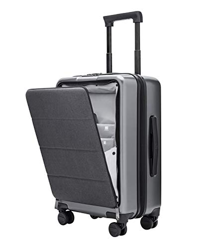 NINETYGO Carry on Luggage 22x14x9 with Spinner Wheels, 20-Inch Hardside Lightweight Hardshell TSA Compliant Suitcase with Front Pocket Lock Cover, for Business Trip & Travel