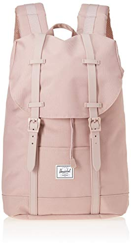 Herschel Supply Co. Unisex-Adult Retreat Mid-Volume Backpack, Ash Rose/Ash Rose Rubber, One Size