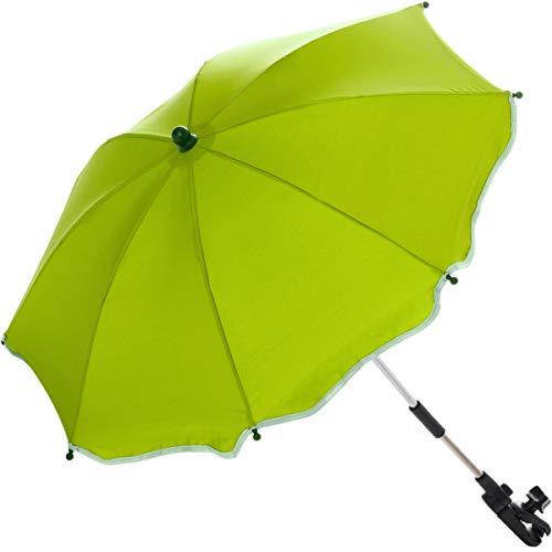 Sonnenschirm für Kinderwagen Buggy und Jogger mit UV SCHUTZ (50) Baby Kind Schirm (Kiwi-Grün)