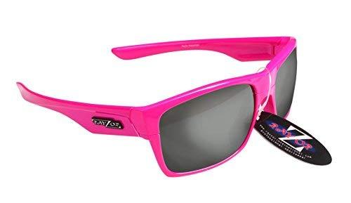 RayZor Professional Lunettes de ski/snowboard UV400 Rose pour Sport, ultra léger avec un fumé Effet miroir anti-reflet Objectif