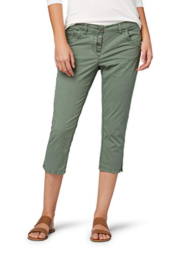 TOM TAILOR Damen Hosen & Chino Relaxed Tapered Jeans Pale Bark Green,34