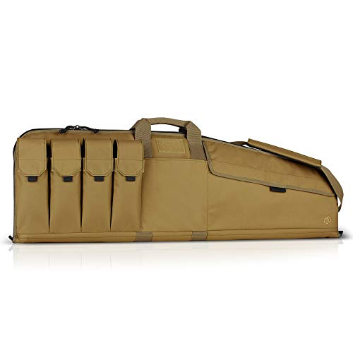 "Savior Equipment The Patriot 35"" Single Rifle Gun Tactical Bag - Flat Dark Earth Tan"