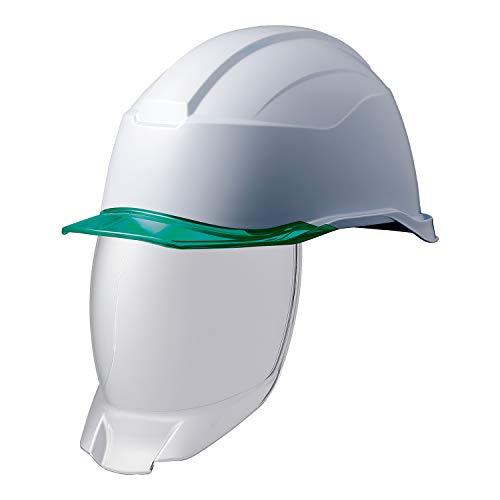 ミドリ安全 ヘルメット 作業用 PC製 シールド面 クリアバイザー SC21PCLS RA3 KP付 侍II ホワイト グリーン