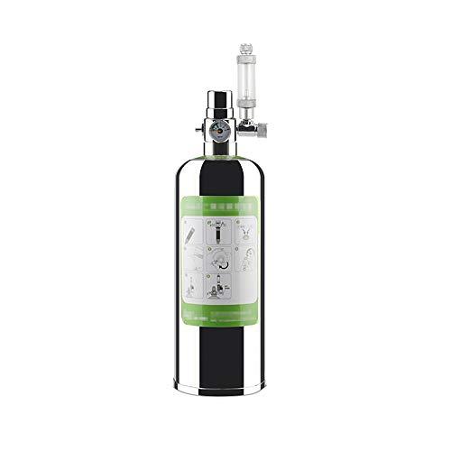 Decdeal Sistema de Generador de CO2 para Acuario 1L 2L 4L Kit de Reactor de Dióxido de Carbono para Plantas de Acuario Peces