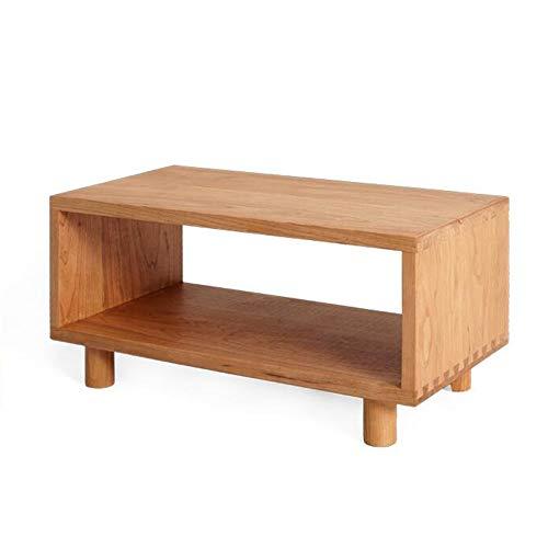 Jcnfa-bijzettafel Eenlaags massief hout nachtkastje, modern nachtkastje, kersenhout opbergkast, gemonteerde tafelpoten